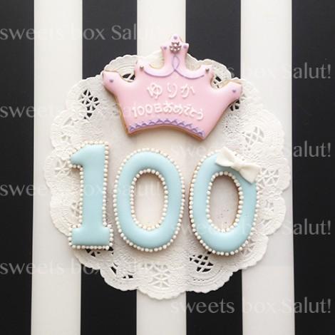 人気!100日祝いのアイシングクッキー