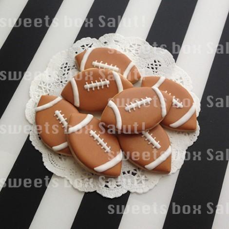 アメフトチームのアイシングクッキー