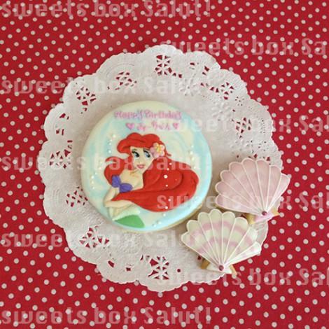 アリエルのお誕生日用アイシングクッキー