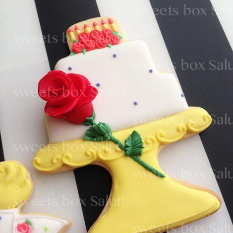 「美女と野獣」ベルのお誕生日用アイシングクッキー3