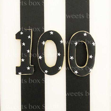 赤ちゃんの100日祝い(お食い初め)用アイシングクッキー2