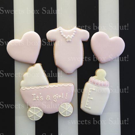 出産内祝い・100日(お食い初め)祝い用アイシングクッキーセット通販1