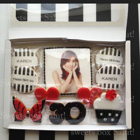 COOLな大人女子向けの誕生日アイシングクッキーセット通販6
