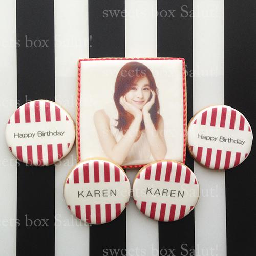 大人女子向け誕生日アイシングクッキー