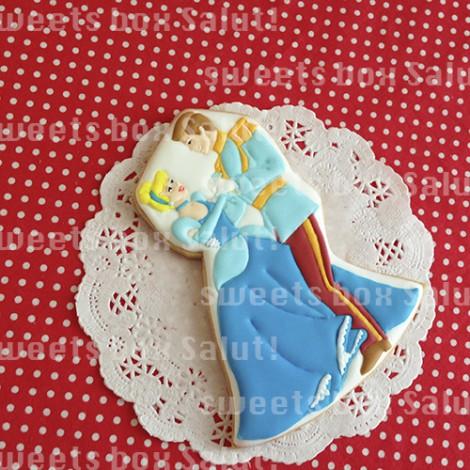 シンデレラの結婚式用アイシングクッキー