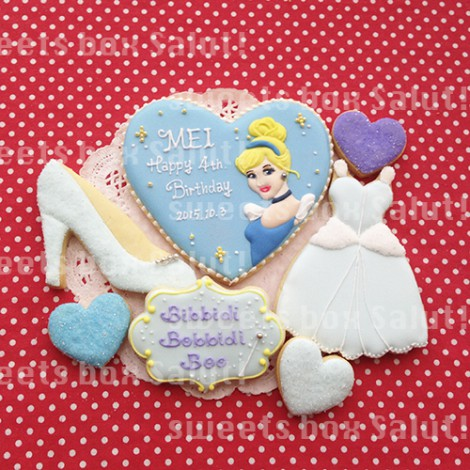 シンデレラのお誕生日用アイシングクッキー2