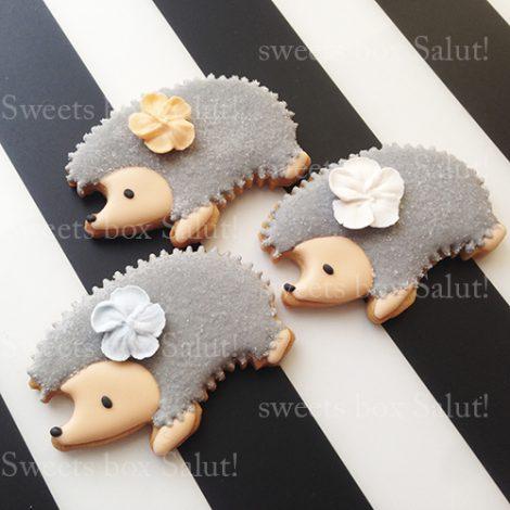 ハリネズミのアイシングクッキー
