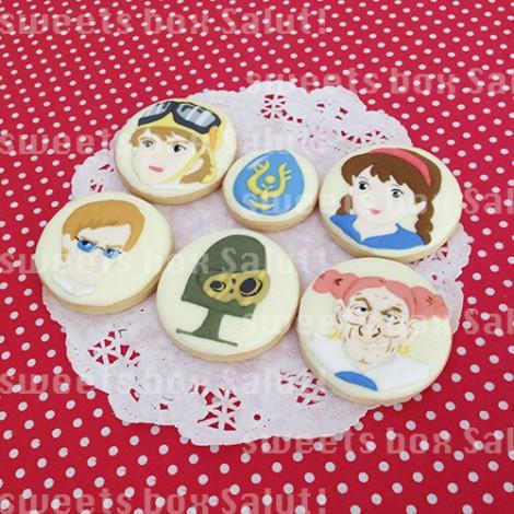 「天空の城ラピュタ」キャラクターのアイシングクッキー