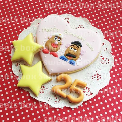 「トイストーリー」ポテトヘッドのアイシングクッキー