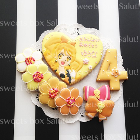 プリキュアのお誕生日用アイシングクッキー1
