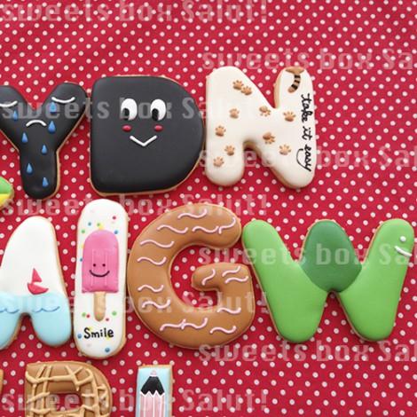アルファベットアイシングクッキー