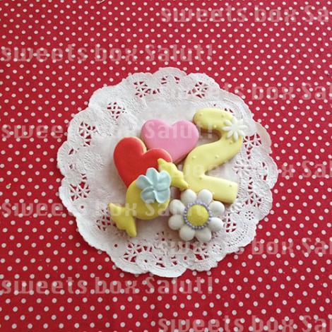 アンパンマンたちのお誕生日用アイシングクッキー