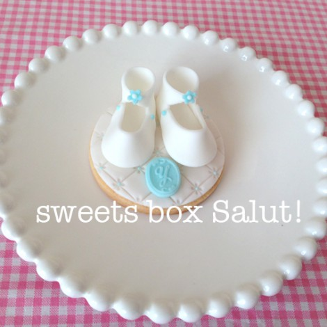 Baby boy誕生祝いのアイシングクッキー1