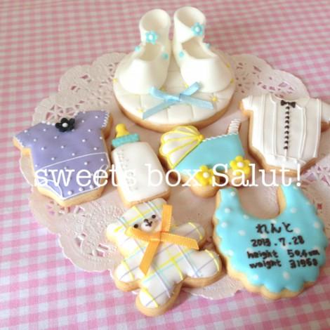 Baby boy誕生祝いのアイシングクッキー3