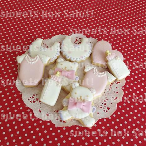 BabyGirl誕生祝いのアイシングクッキー