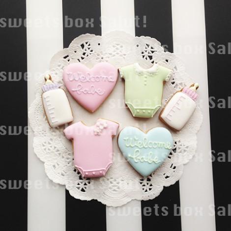 ベビーシャワー用カップケーキ&アイシングクッキー