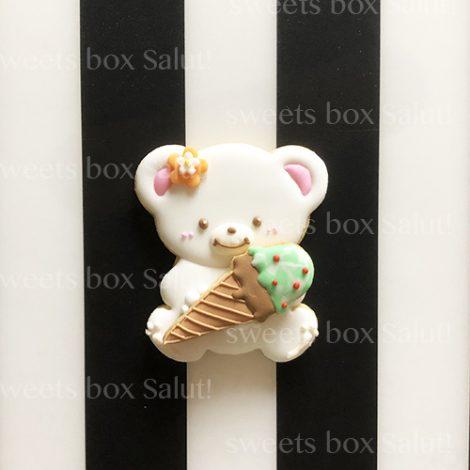 アイス×くまちゃんのアイシングクッキー1