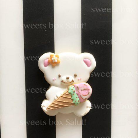 アイス×くまちゃんのアイシングクッキー2