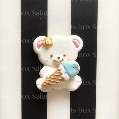 アイス×くまちゃんのアイシングクッキー3