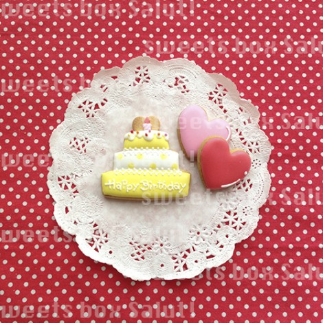 くまちゃんのお誕生日用アイシングクッキー2