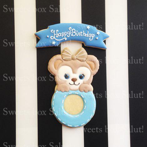ディズニーキャラクターのお誕生日用アイシングクッキー3