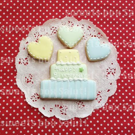 バンドキャラクターのお誕生日用アイシングクッキー