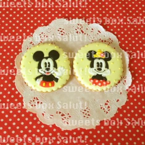 ミッキー&ミニーのお誕生日用アイシングクッキー