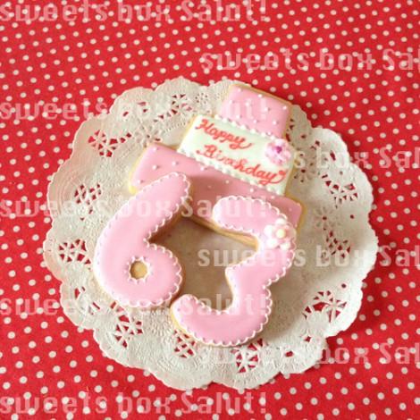 ミッキー&ミニーのお誕生日用アイシングクッキー3