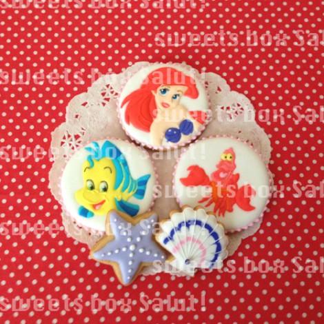 リトル・マーメイドキャラのお誕生日用アイシングクッキー1