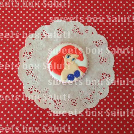リトル・マーメイドキャラのお誕生日用アイシングクッキー2