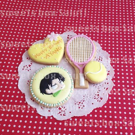 テニス&リヴァイのお誕生日用アイシングクッキー1