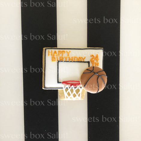 バスケットボールモチーフのアイシングクッキー2