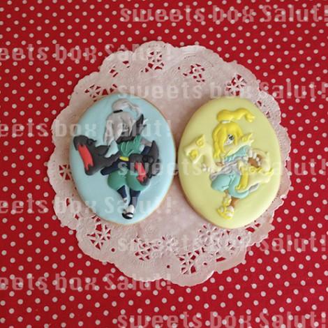 妖怪ウォッチキャラのお誕生日用アイシングクッキー1