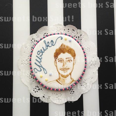 サッカー選手のお誕生日用アイシングクッキー