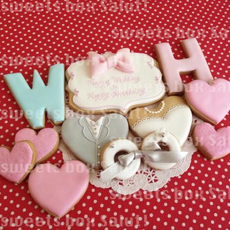 結婚&お誕生日のアイシングクッキー1