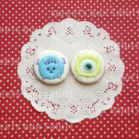 Tsum Tsumサリーとマイクのお誕生日用アイシングクッキー