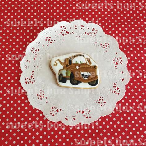 「カーズ」お誕生日のアイシングクッキー