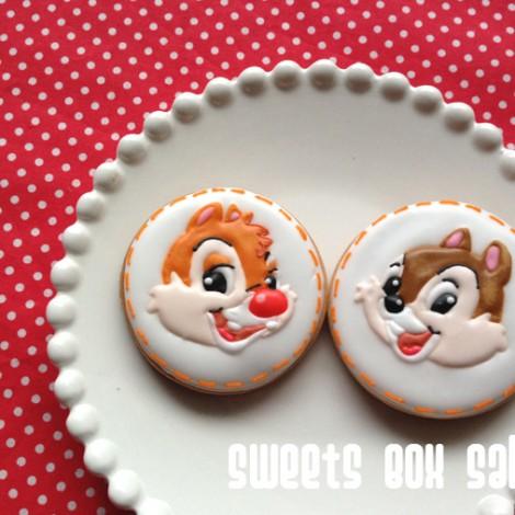チップとデールのアイシングクッキー