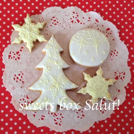 クリスマス オーナメントのアイシングクッキー4