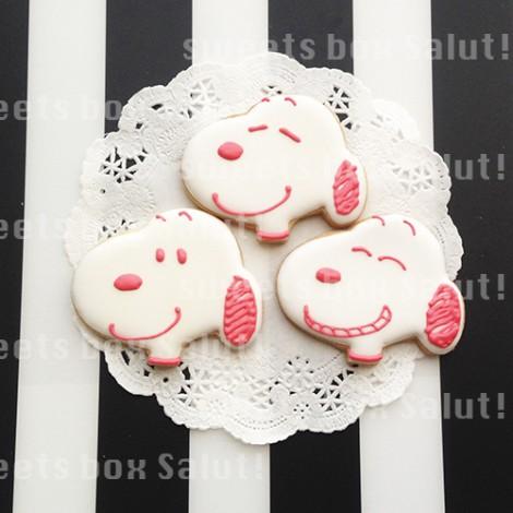 カラフルなスヌーピーのアイシングクッキー1