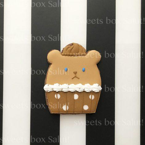 カップケーキベアのアイシングクッキー2