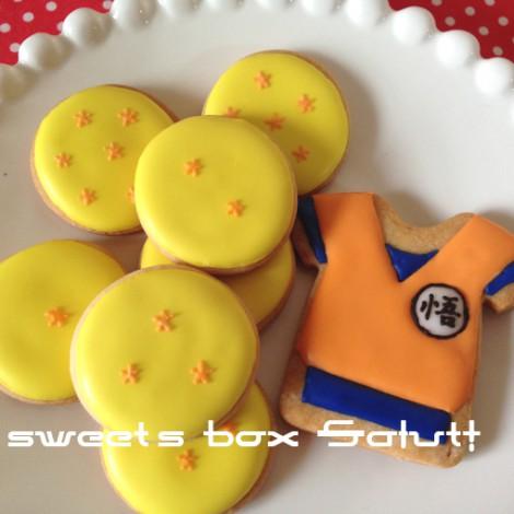 ドラゴンボールと亀仙流道着のアイシングクッキー