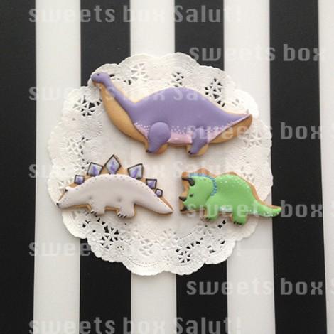 恐竜のお誕生日アイシングクッキー1