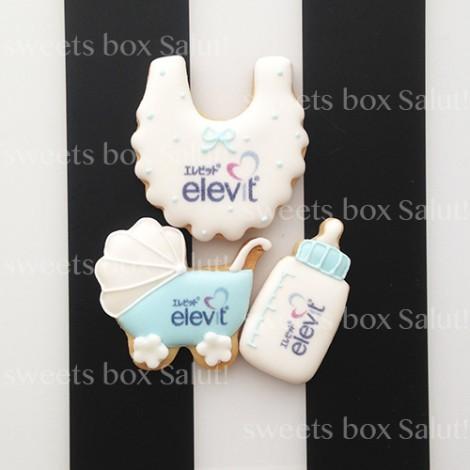 elevitロゴオリジナルプリントアイシングクッキー(カスタムデザイン)