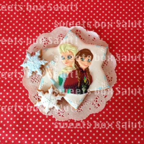 「アナと雪の女王」のアイシングクッキー1