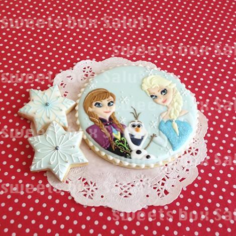 アナと雪の女王のお誕生日用アイシングクッキー1