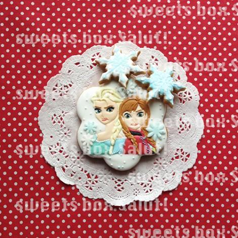 「アナと雪の女王」のお誕生日用アイシングクッキー
