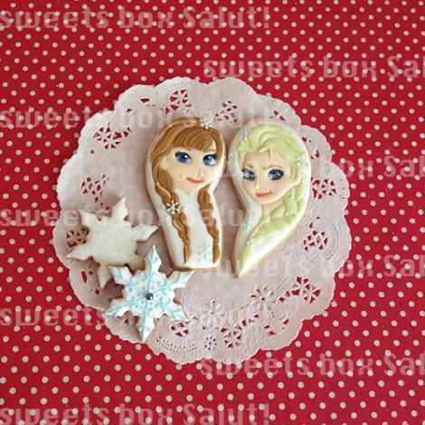 アナとエルサとオラフのアイシングクッキー
