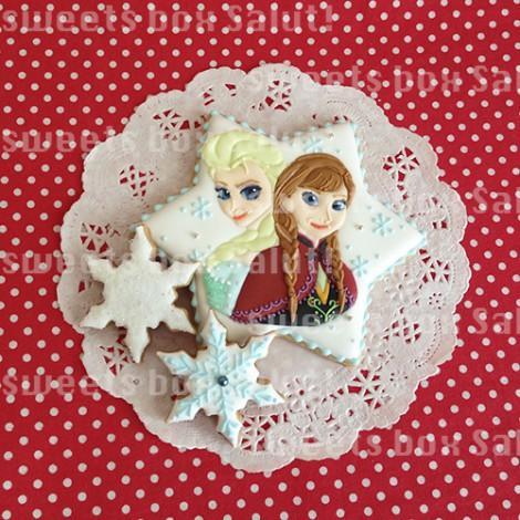 「アナと雪の女王」お誕生日用アイシングクッキー2