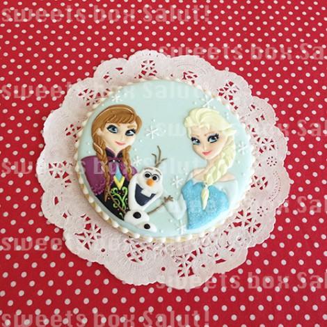 アナと雪の女王のお誕生日用アイシングクッキー2